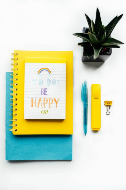 to-do list flat lay blue yellow wedding industry virtual assistants Scotland